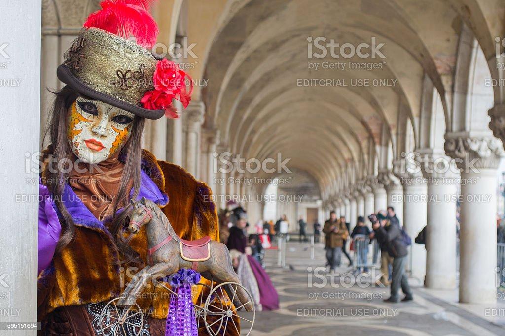 Woman In a Beautiful Attire in Carnival stock photo