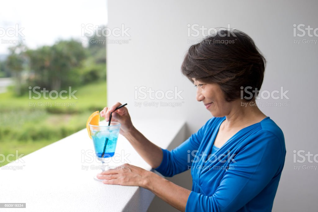 A woman in a cafe stock photo