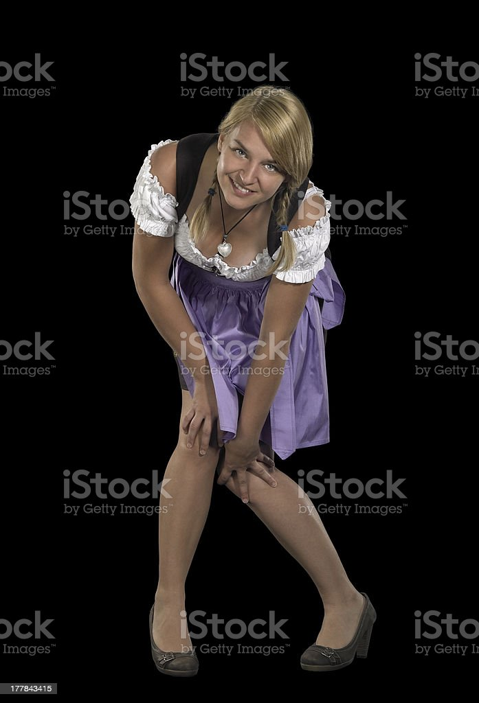 woman in a dirndl stock photo