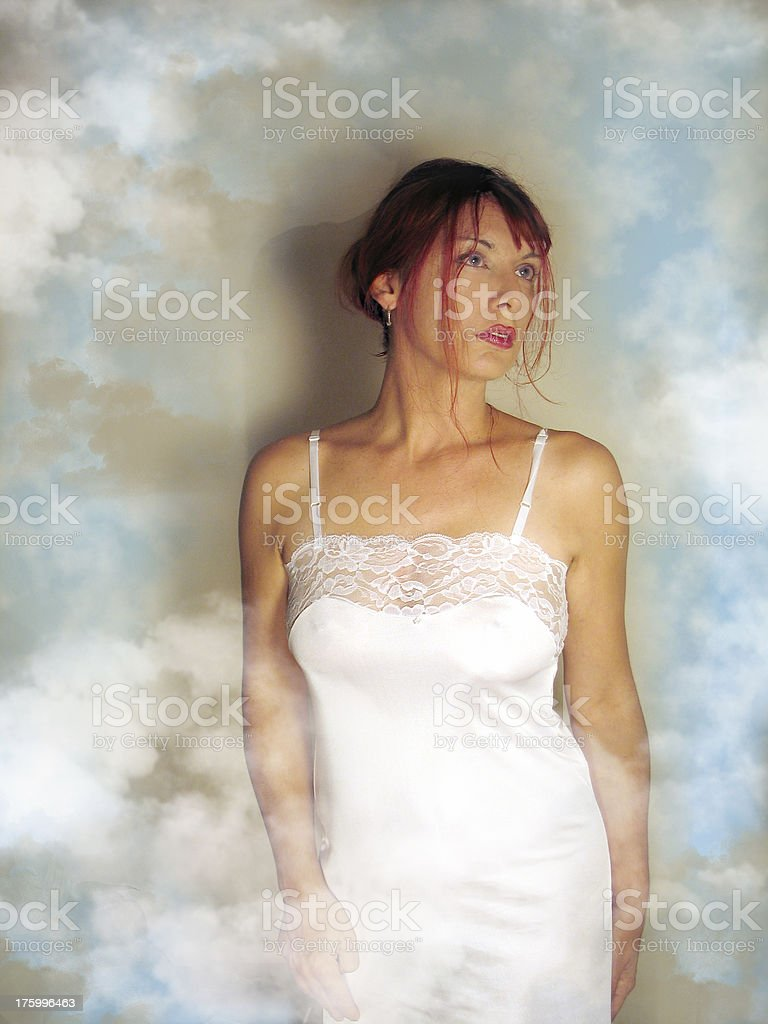 Woman in a dream royalty-free stock photo