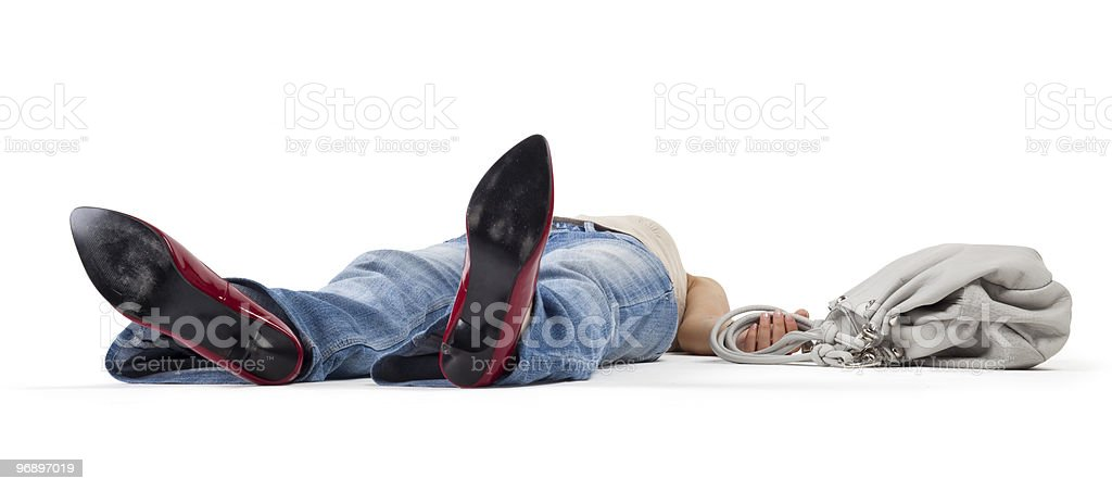 Woman in a faint royalty-free stock photo