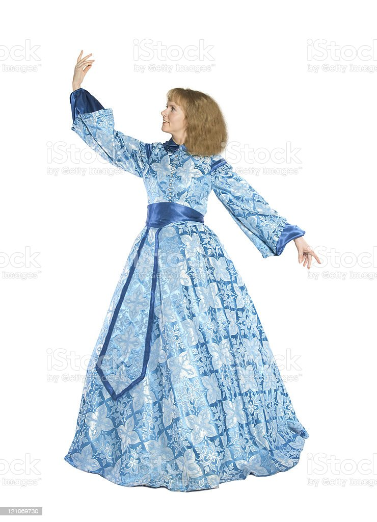 Woman in a fancydress royalty-free stock photo