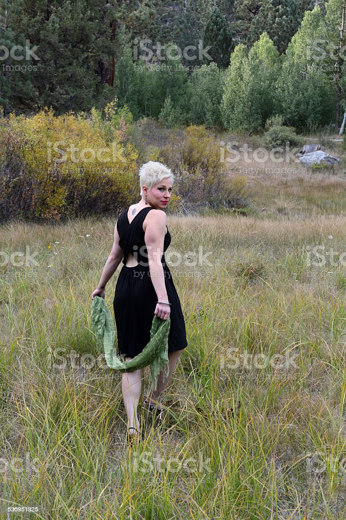 Woman in a Field royalty-free stock photo