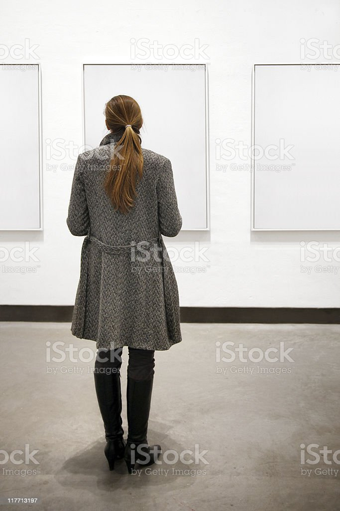 woman in a gallery royalty-free stock photo