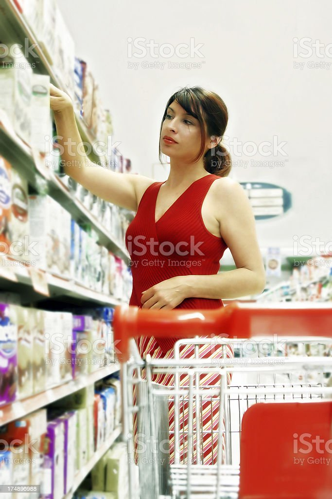Woman in a Grocery Store royalty-free stock photo