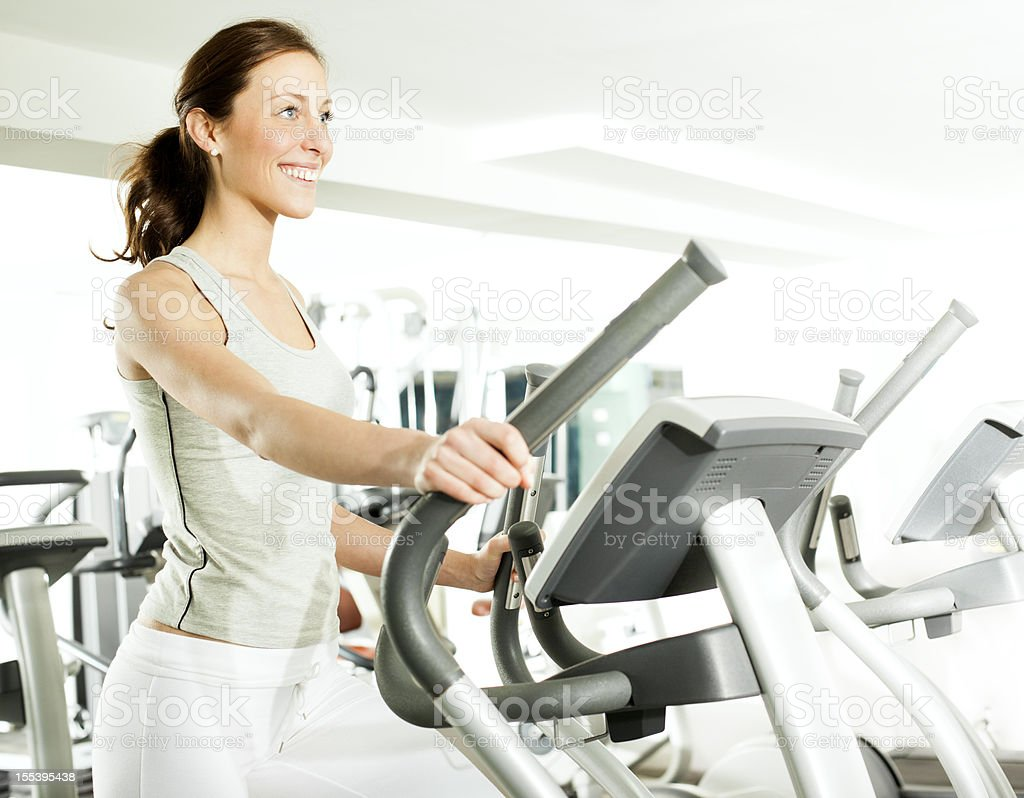 Woman in a gym. stock photo