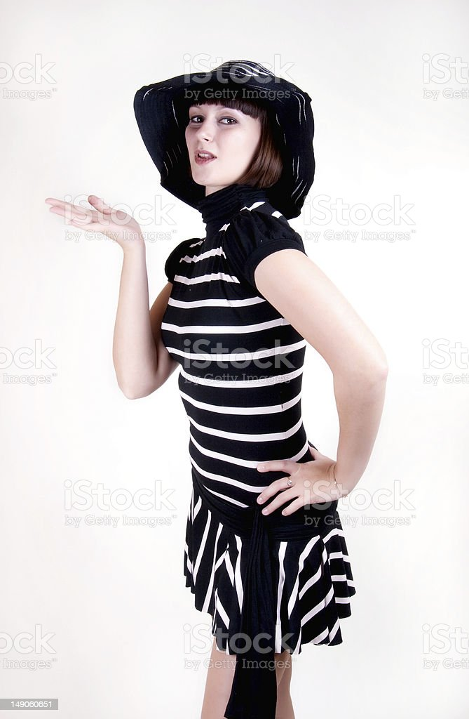 Woman in a hat royalty-free stock photo
