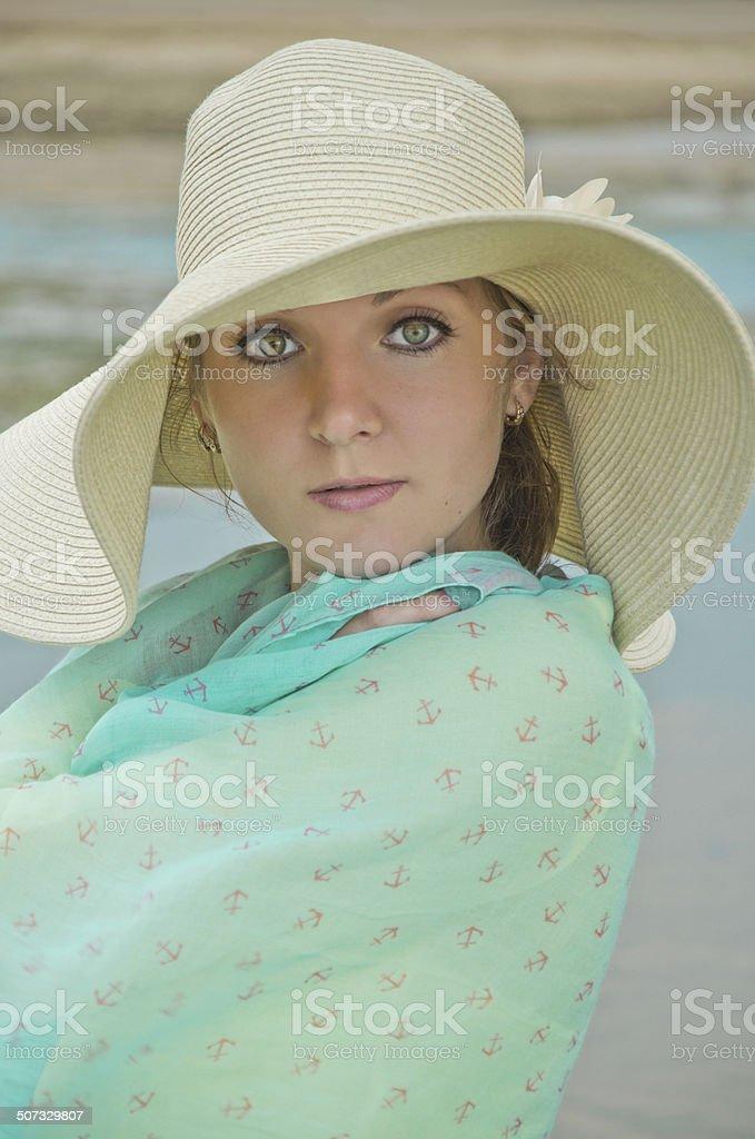 Mulher em um Chapéu foto de stock royalty-free