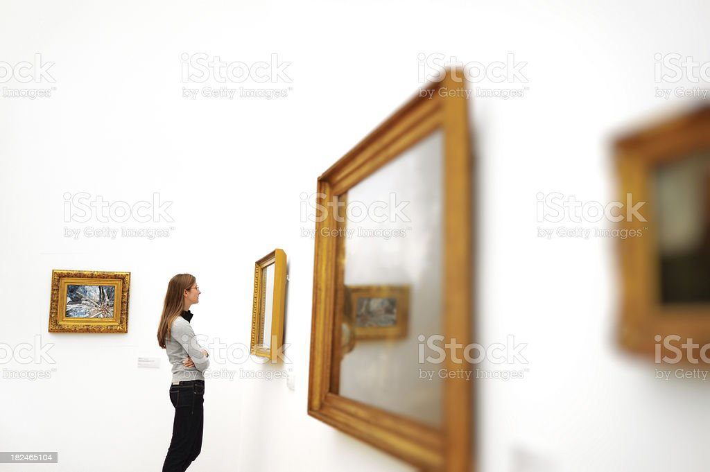 Woman in a museum royalty-free stock photo