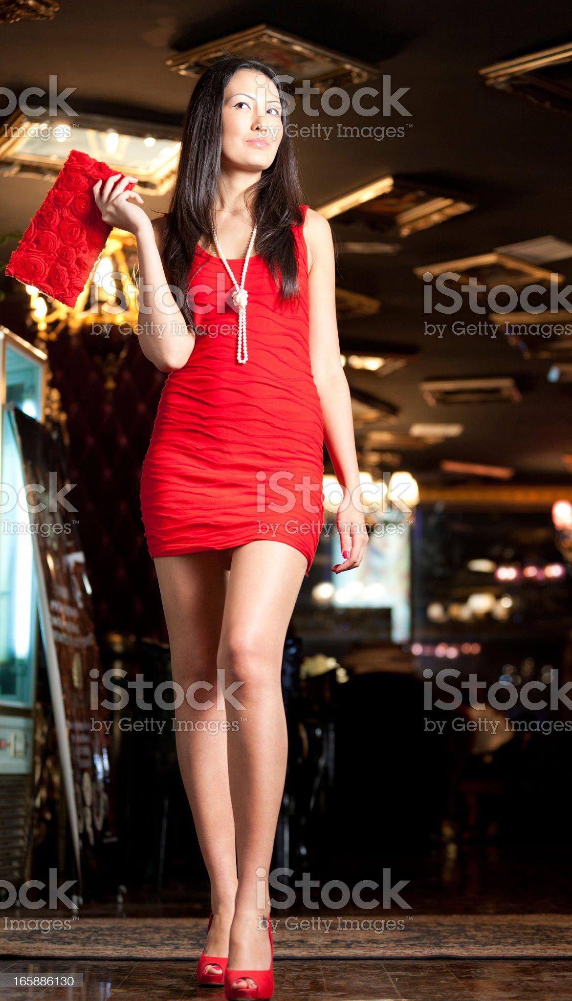Woman in a nightclub royalty-free stock photo