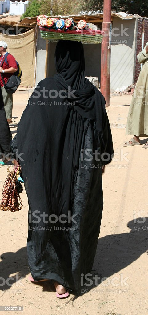 Woman in a Nubian Village stock photo