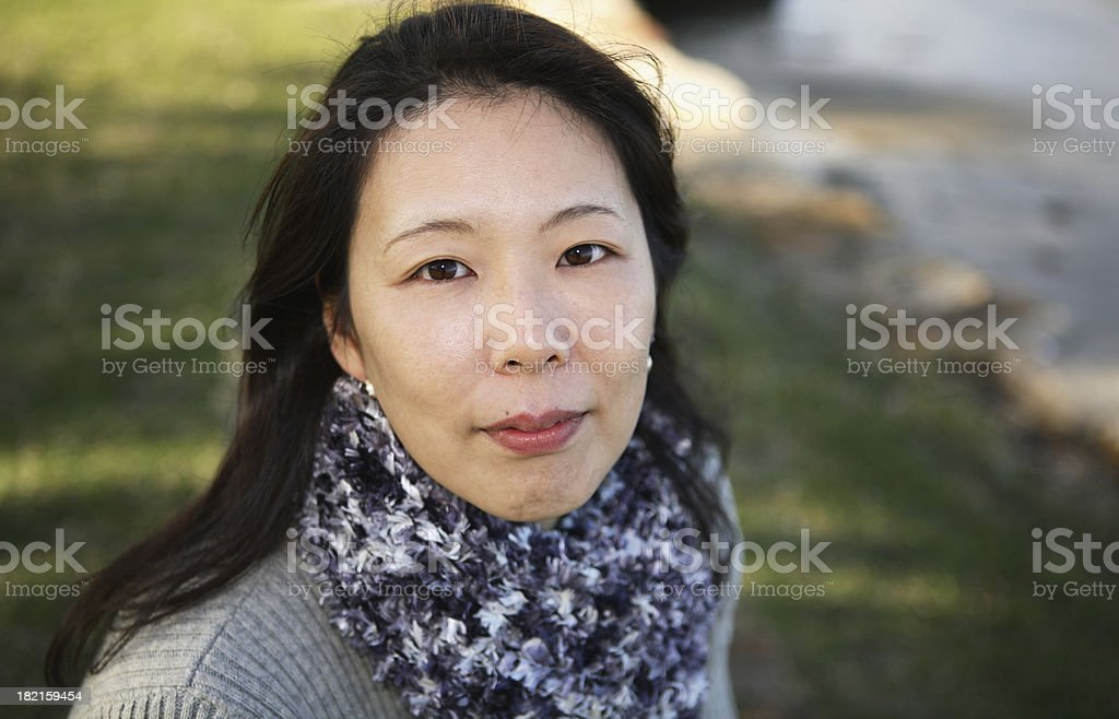 Woman in a park royalty-free stock photo