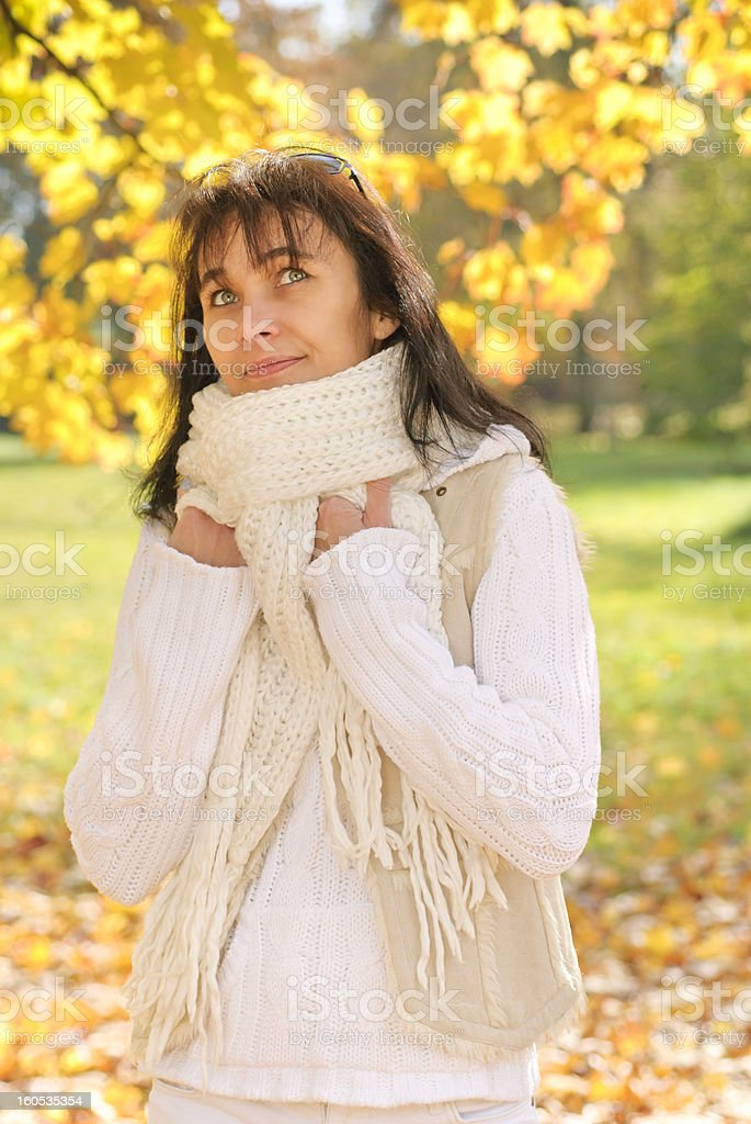 Woman in autumn royalty-free stock photo