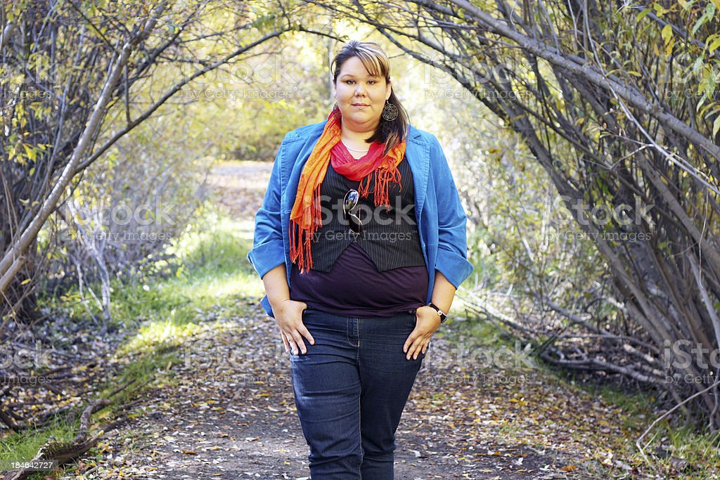 Woman In Autumn stock photo