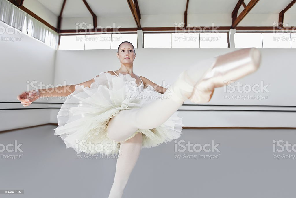 Woman in ballet costume dancing royalty-free stock photo