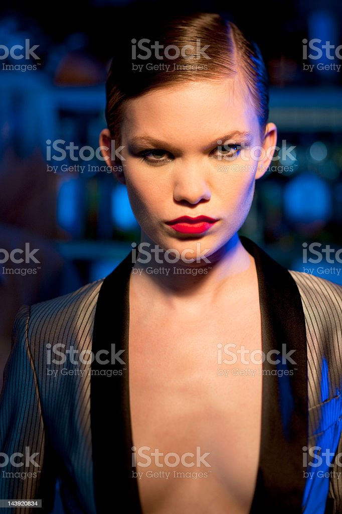 Woman in Bar royalty-free stock photo