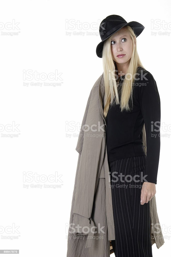 Woman in black royalty-free stock photo