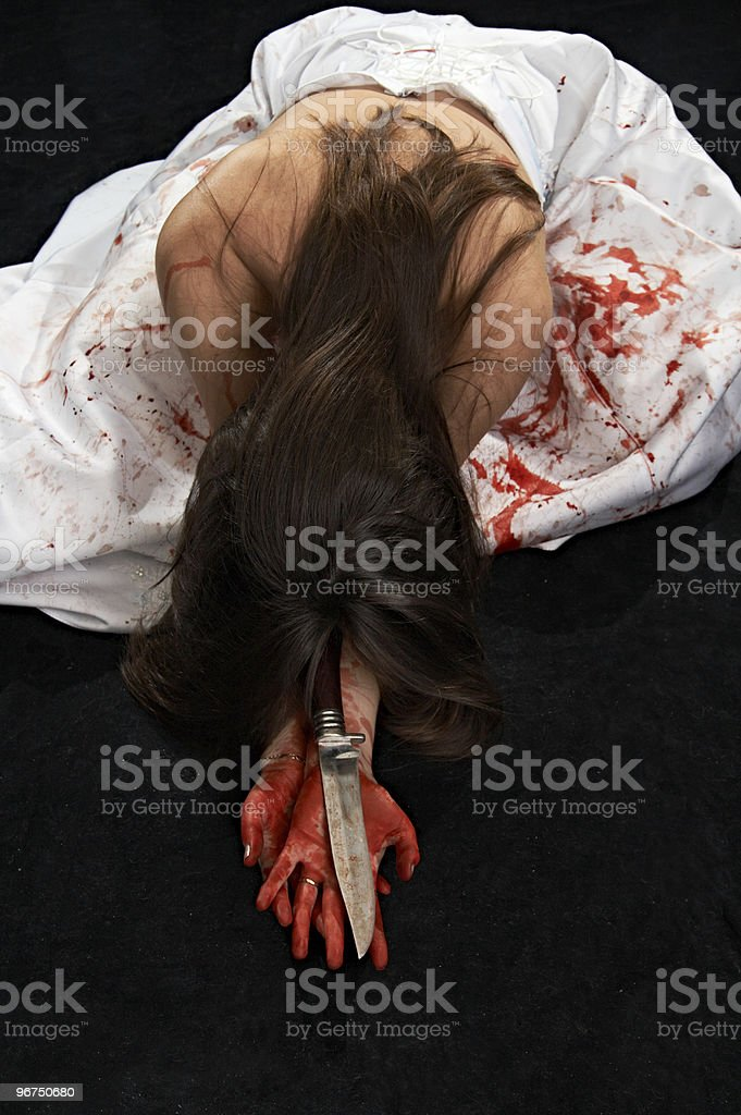 woman in  blood royalty-free stock photo
