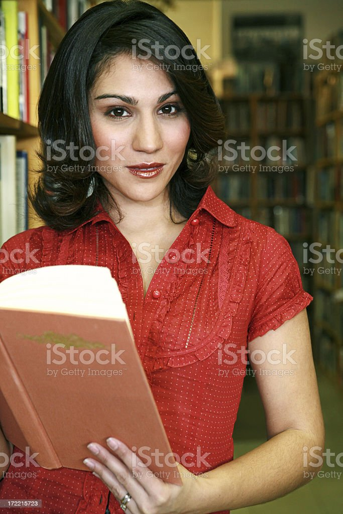 Woman in Bookstore royalty-free stock photo