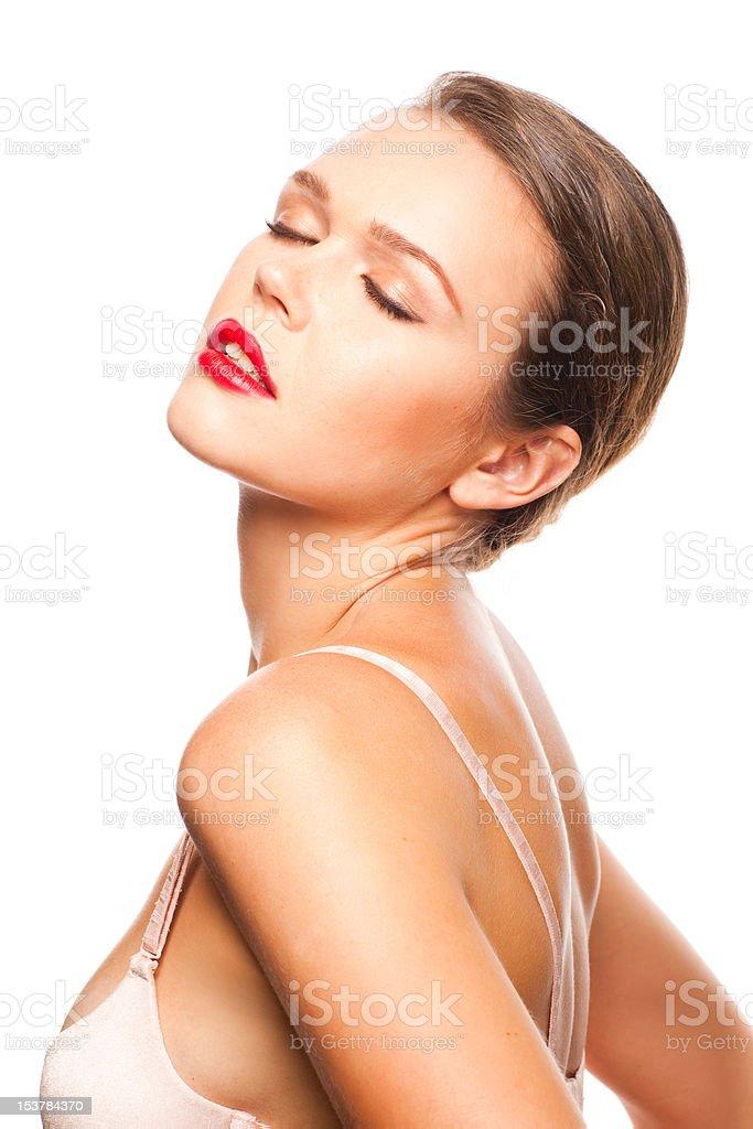 Femme en soutien-gorge photo libre de droits