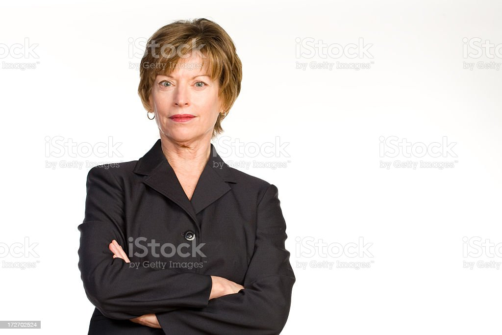 Woman in business suit royalty-free stock photo