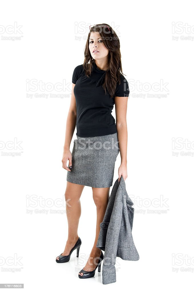 Woman in business suit stock photo