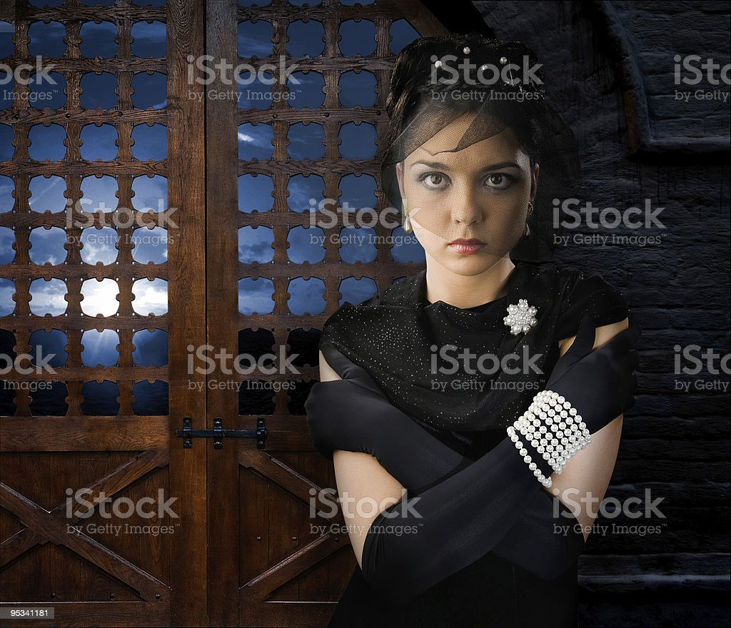 Woman in Castle royalty-free stock photo