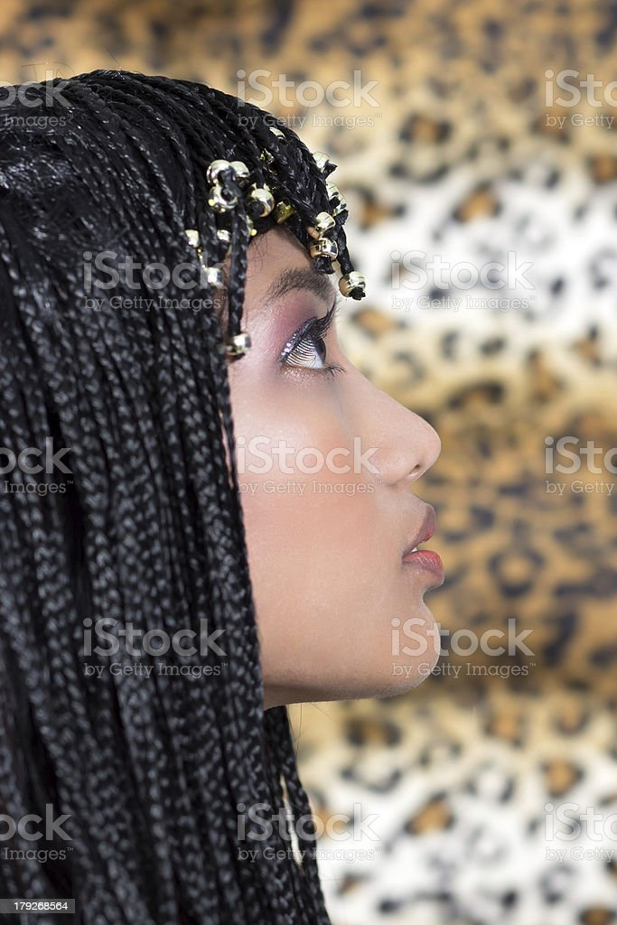 Woman in Cleopatra style royalty-free stock photo