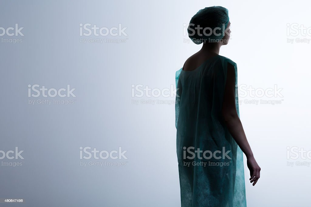 Woman in clinical death stock photo