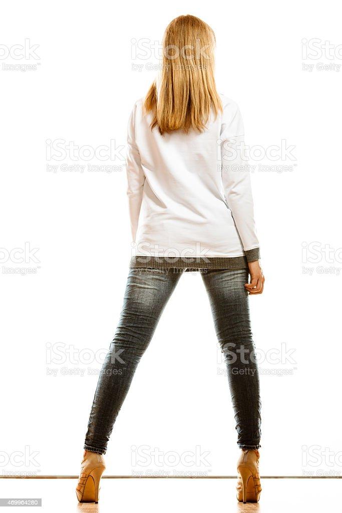 девушки на каблуках вид с заду фото