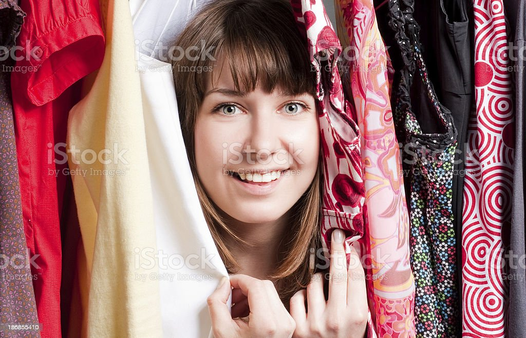 woman in different dresses stock photo