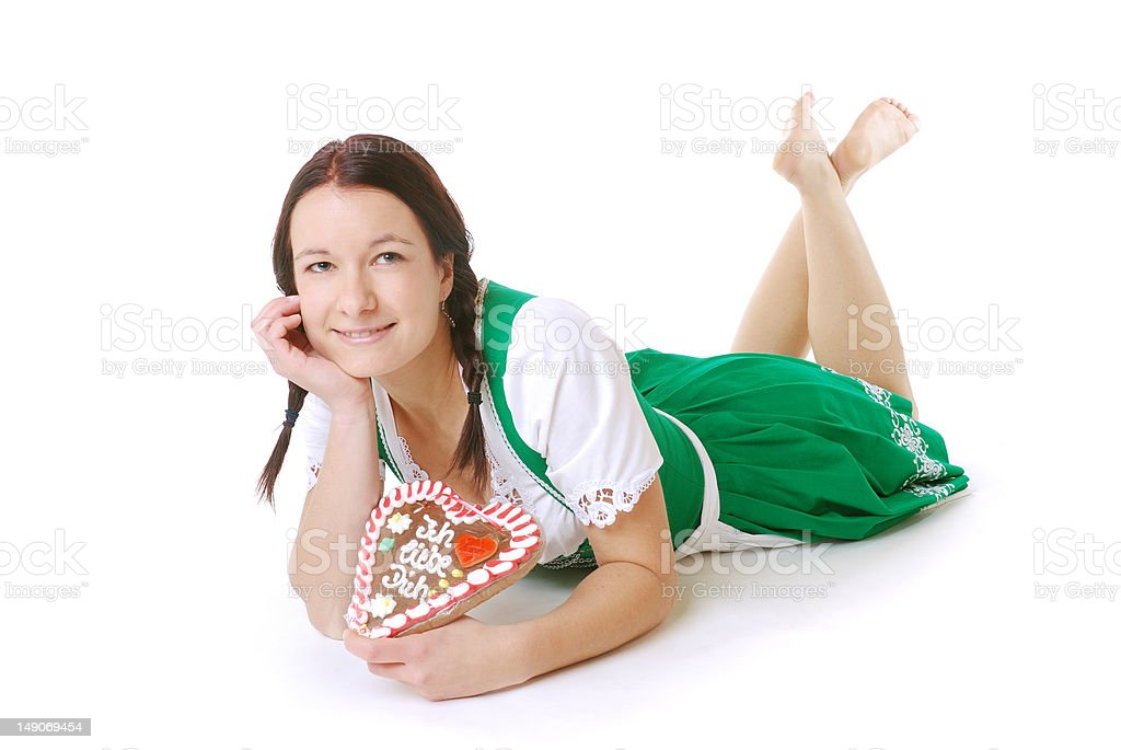 Woman in Dirndl royalty-free stock photo