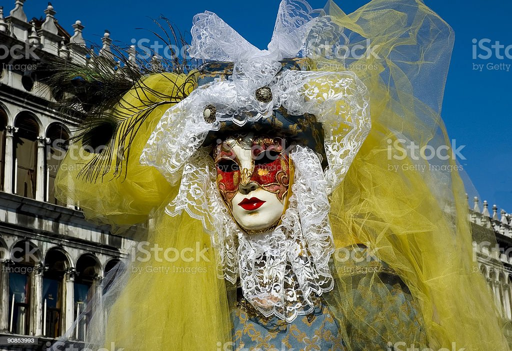 woman in disguse royalty-free stock photo