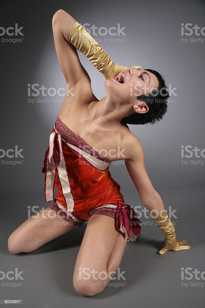 woman in ecstasy royalty-free stock photo