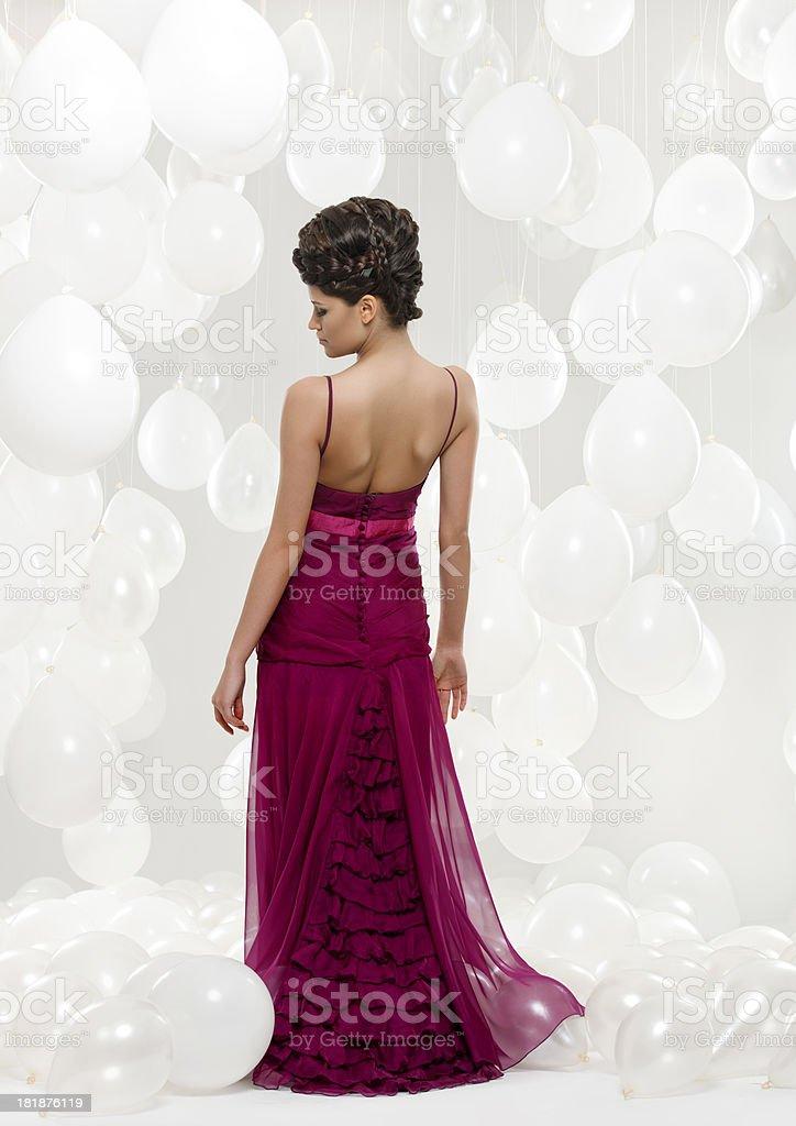 woman in elegant dress royalty-free stock photo