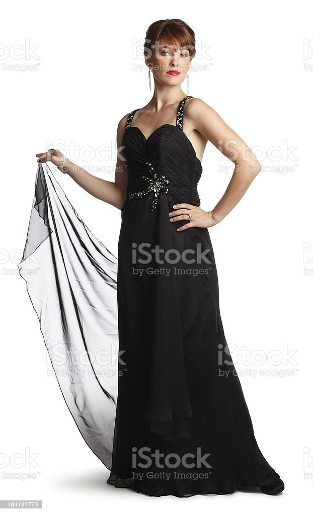 Woman In Evening Gown royalty-free stock photo