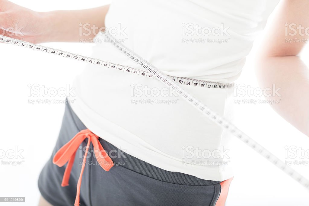 Woman in exercise clothing stock photo