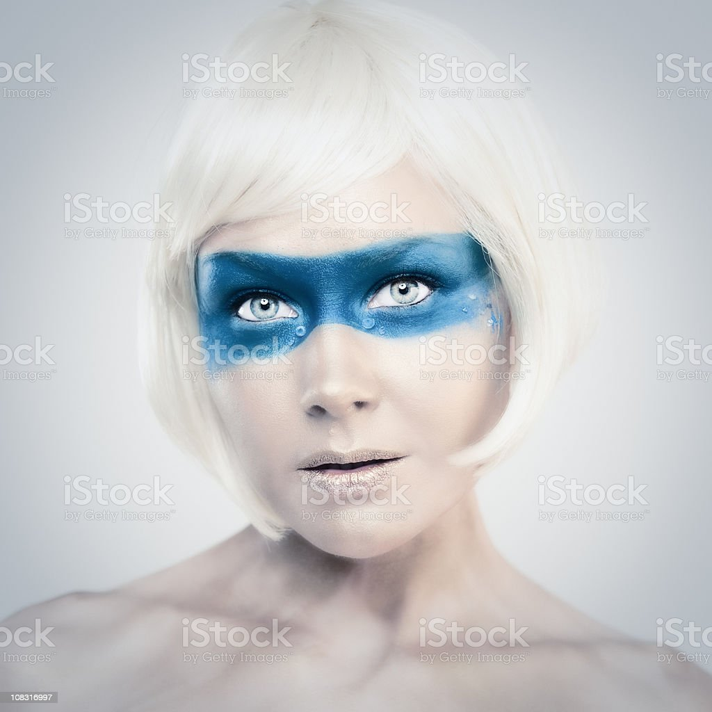 woman in face paint royalty-free stock photo