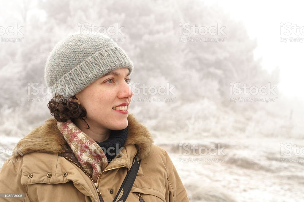 Woman in Frost royalty-free stock photo