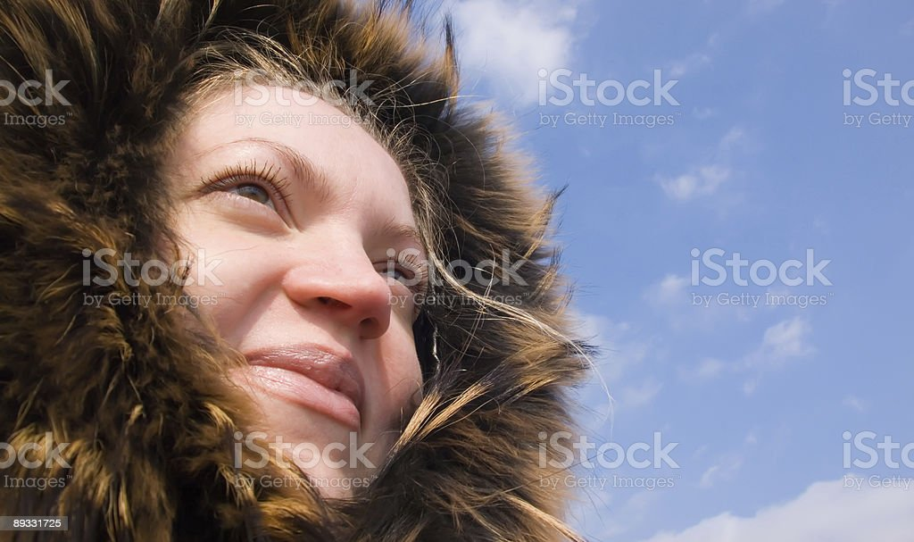 Woman in fur royalty-free stock photo