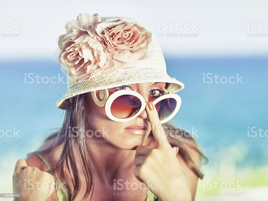 Woman in hat royalty-free stock photo