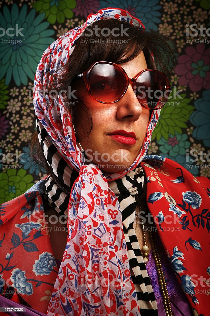 Woman in Headscarf royalty-free stock photo