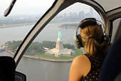 Woman in helicopter ride over new York
