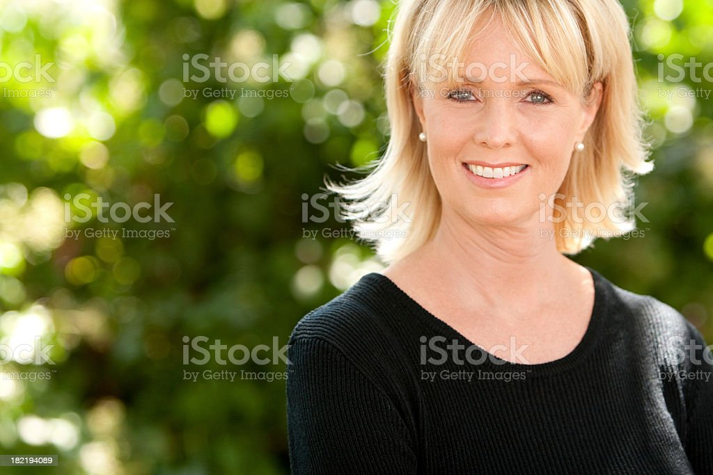 Woman in her 40's royalty-free stock photo