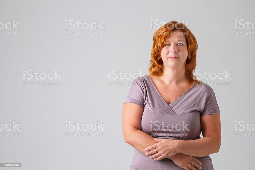 woman in her forties stock photo