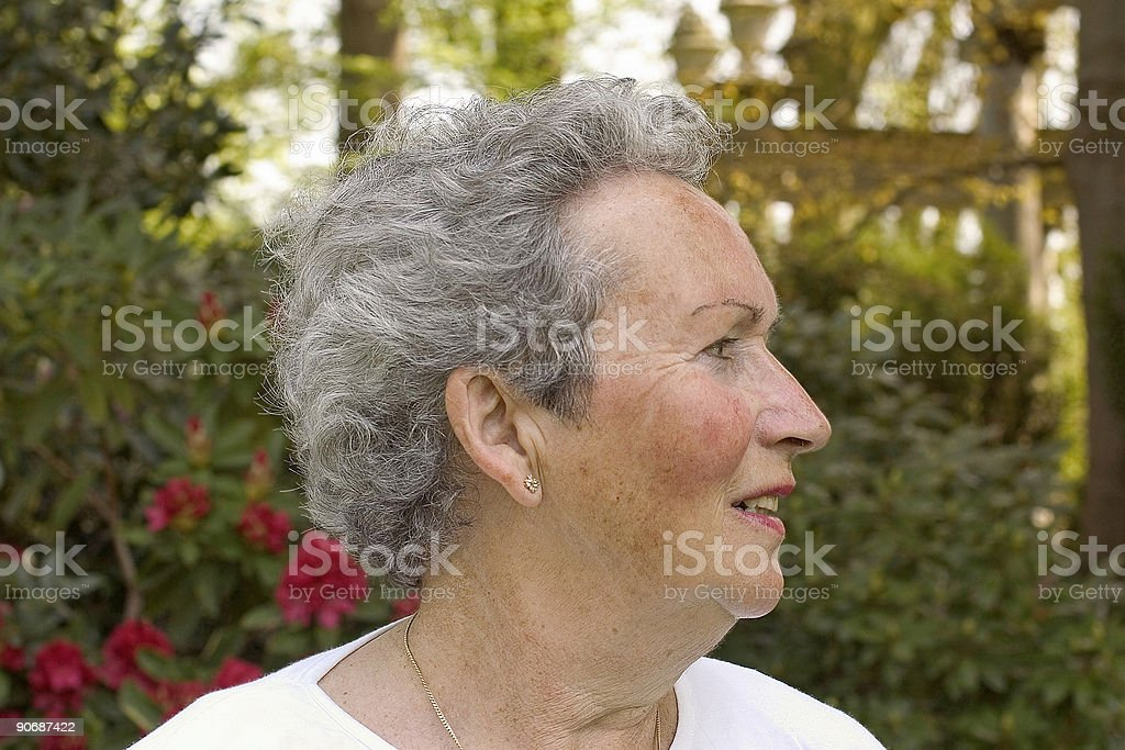 Woman in her sixties (full color) royalty-free stock photo