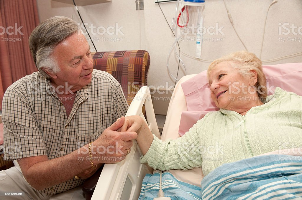 woman in hospital royalty-free stock photo