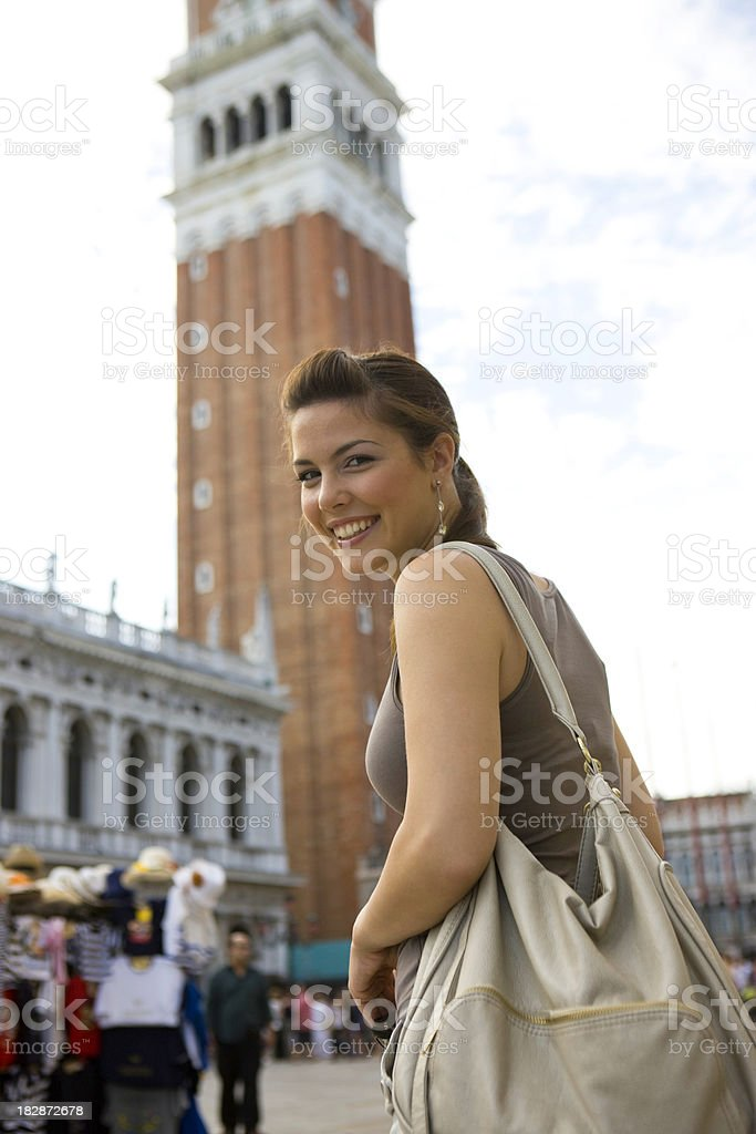 Woman in Italy royalty-free stock photo