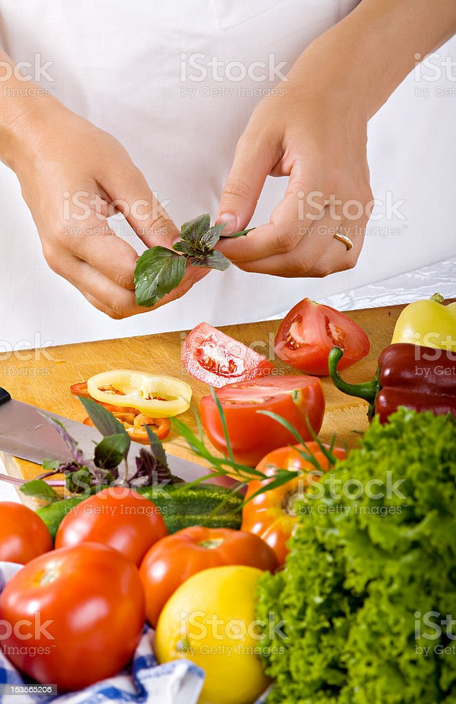 Woman in kitchen royalty-free stock photo