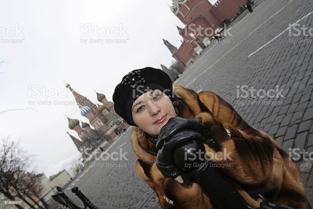 Woman in Kremlin royalty-free stock photo